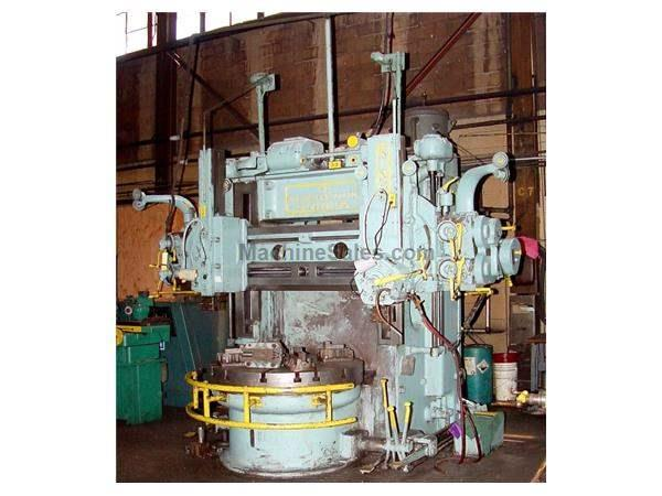 "52"" Table 59"" Swing King 52 VERTICAL BORING MILL, Threading, Turret & Ram, PlainTable w/4 Jaws.20 HP"
