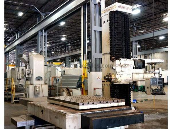 "6"" Spindle 120"" X Axis Giddings & Lewis G60RT HORIZONTAL BORING MILL, 8000B Control, Rotary Table, Coolant Thru, 2500RPM"