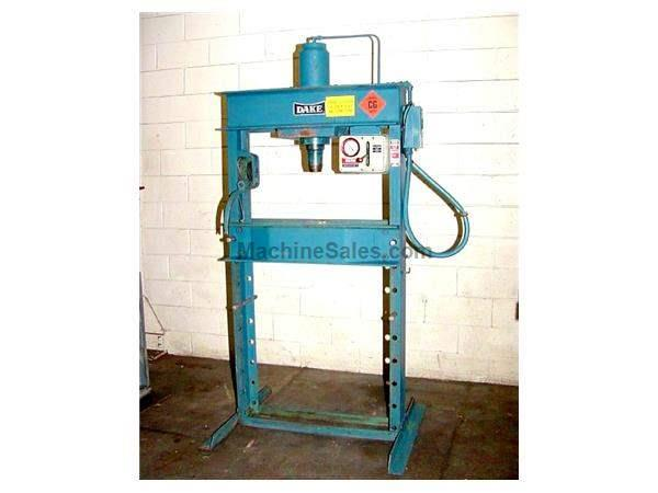 "50 Ton 10"" Stroke Dake 50 Ton Elec-Draulic II H-FRAME HYDRAULIC PRESS, Electric over"