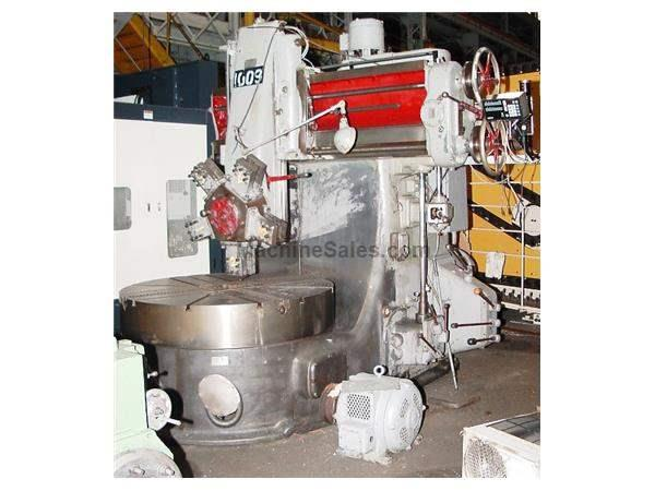 "60"" Table 66"" Swing Webster&Bennett 60"" VERTICAL BORING MILL,  4 Jaw Chuck, Turret, Sony DRO, 25 HP"