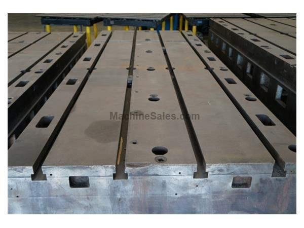 "125' Length 48' Width Unknown FLOOR PLATE, 48"" x 125"" x 14"" Thick T-Slotted Floor Plate"