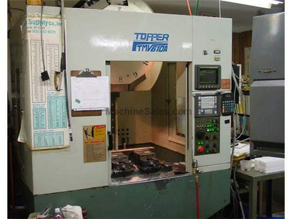 "24"" X Axis 16"" Y Axis Topper TMV610A VERTICAL MACHINING CENTER, Fanuc OM Control, 12 ATC,"