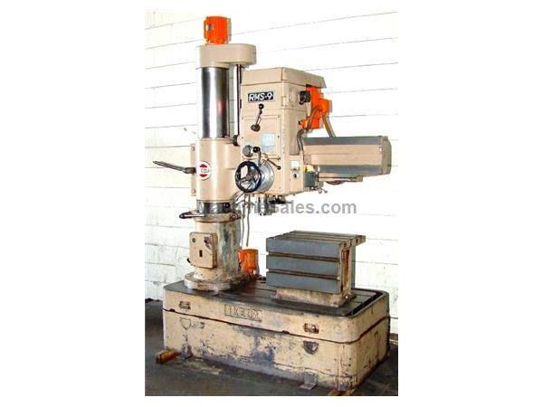 "3' Arm Lth 9"" Col Dia Ikeda RMS-9 RADIAL DRILL, 3 HP,#4MT, Box Tbl,Power Elevation"