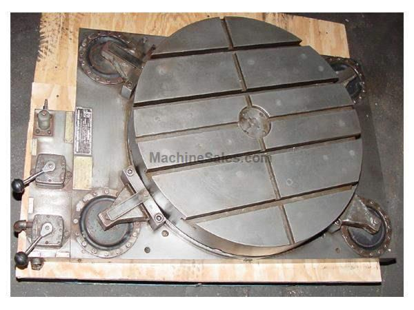 "30"" Width Giddings & Lewis Air Lift ROTARY TABLE, Air-Lift, Graduated Scale, T-Slotted, 90% Shotpins"