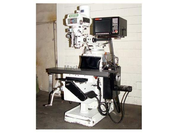 "27.5"" X Axis 3HP Spindle Manford CV-175 CNC VERTICAL MILL, ANILAM 3200 MK 2-Axis Cntrl,HandWheels,BallScrews,"