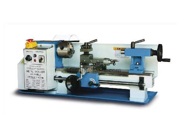 "7"" Swing 11.8"" Centers Baileigh PL-712VS ENGINE LATHE, 110V VARIABLE SPEED BENCH TOP LATHE"