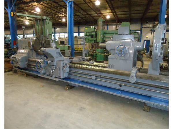 "52"" Swing 192"" Centers American J-6 Pacemaker ENGINE LATHE, Hardways, Taper, Steady Rest, 4-Jaw, 60 HP,"