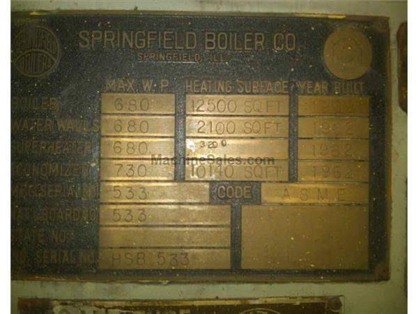SPRINGFIELD TWO-DRUM BENT TUBE BOILER