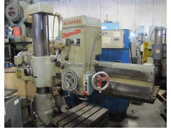 "GIDDINGS & LEWIS BICKFORD CHIPMASTER 4' X 9"" RADIAL DRILL"