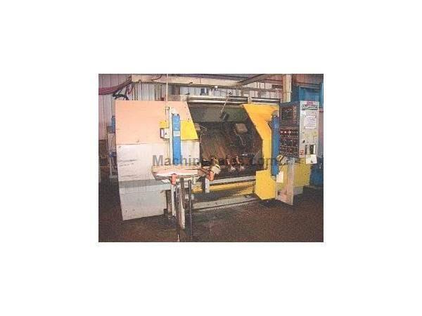 OLOFSSON, NO. 14L70, 4-AXIS TWIN TURRET 50 HP CNC TURNING CENTER, 1999