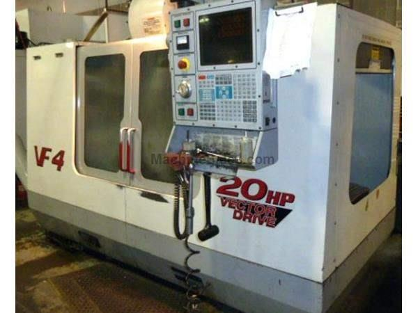 "50""X, 20""Y, 25""Z, HAAS VF4,52"" X 18"" TABLE, 10,000 RPM SPINDLE, 24 ATC,"