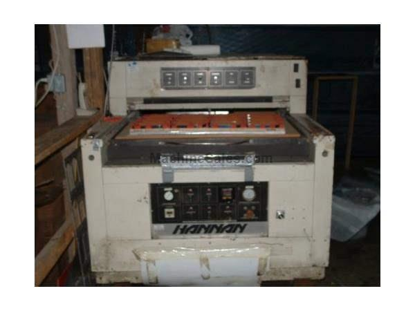 "80 TON, HANNAN, 40"" x 25""DIE CUTTING AREA, HEATED PLATEN, 6""DIE HEIGHT"