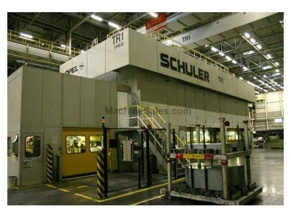 3200 Ton, SCHULER TBS-3200-6-1800, 6-STATION, 8-18SPM, 1160mm SH, CUSHIONS