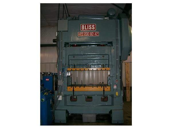 "200 Ton, BLISS HP2-200-60-42, 8""STR, 18""SH, 60""X42""BA, 40-80SPM, REFURBISHED"