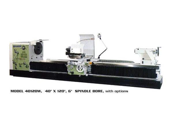 "35"" Swing 120"" Centers Sharp 35120W Big Hole ENGINE LATHE, 30 HP, Spdl Bores Up to 12.5"""