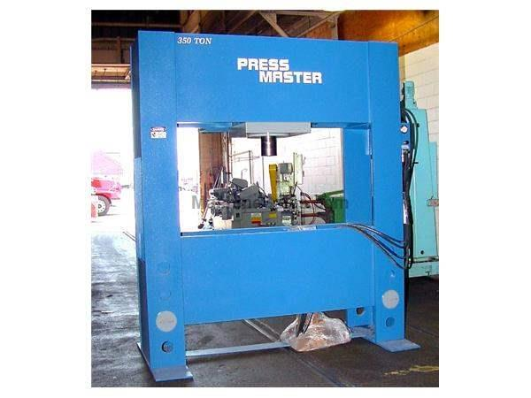 "350 Ton 16"" Stroke Pressmaster HFP-350T H-FRAME HYDRAULIC PRESS, W/MOVEABLE WORKHEAD"
