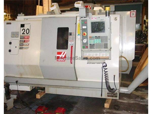 "20"" Swing 20"" Centers Haas SL-20T CNC LATHE, Haas CNC, Collet Chk., Tailstck, Servo 300 barfeed"
