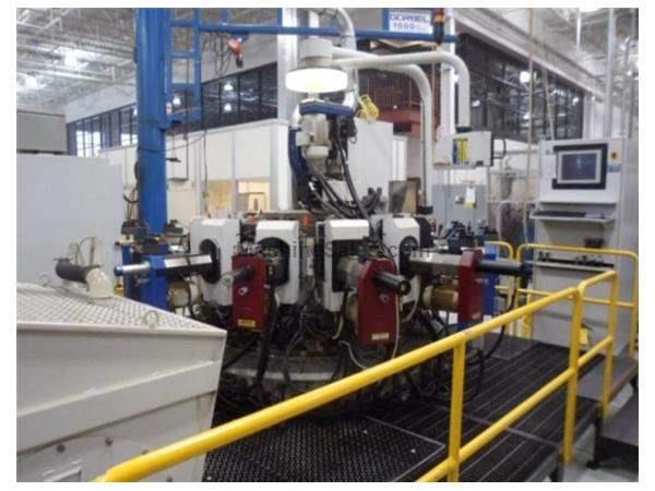 Hydromat, No. HS25-12, 12-Station CNC Rotary Transfer,Robot Load or bar Feed,'03