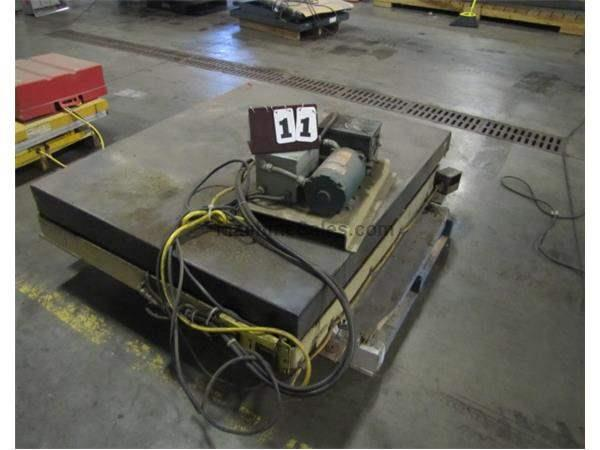 "GLOBE ELECTROHYDRAULIC 57 1/2"" X 48 1/2"" SCISSOR LIFT TABLE"