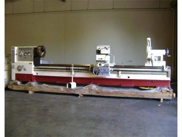 "32"" Swing 80"" Centers GMC GML-3280H ENGINE LATHE, D1-11 with 5-1/8"" bore, 2"
