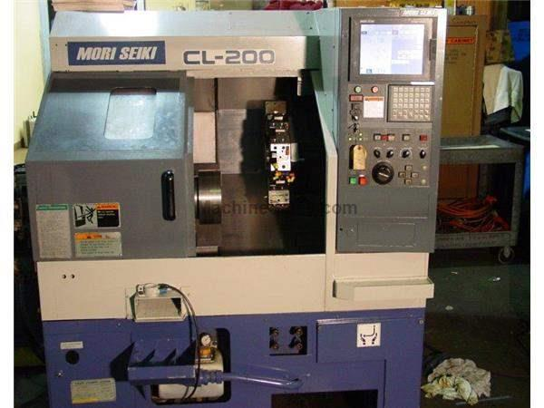 "20.28"" Swing Mori Seiki CL-200B CNC LATHE, MSC-803, 8"" chuck, Chip Conveyor"