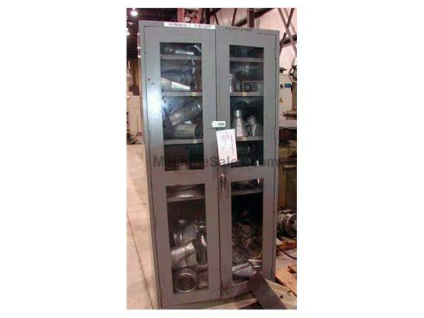 "MFG UNKNOWN GLASS FRONT/ 2 DOOR CABINET - 36"" X 24"" X 78"""