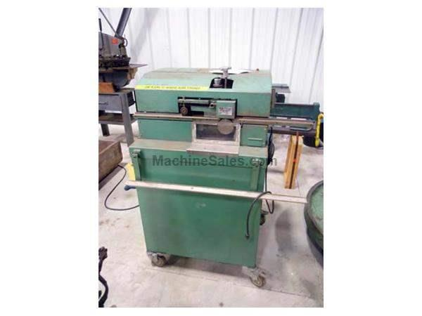 1985 - USED FALLS MODEL 111 SHEET METAL DEBURRING MACHINE, 24 GAUGE TO 1/4″