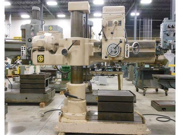USED GIDDINGS & LEWIS CHIPMASTER RADIAL DRILL - 4' X 9""