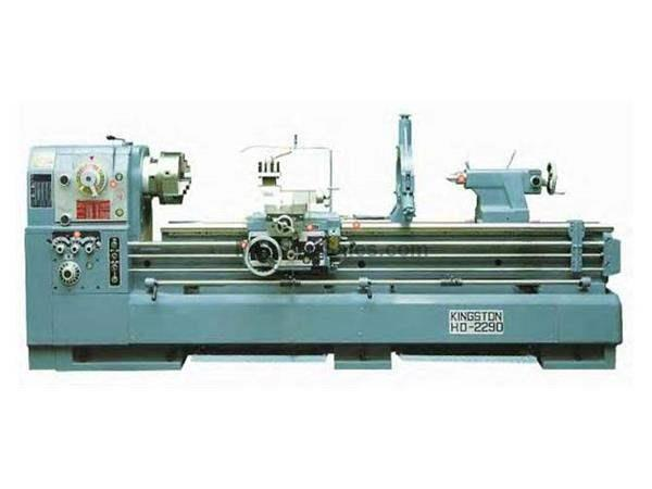 NEW - KINGSTON MODEL HD-2290, 4″ LARGE BORE HIGH SPEED PRECISION GAP BED LATHE, 22″ X 90″