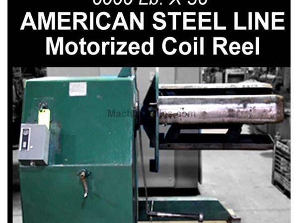 "AMERICAN STEEL MOTORIZED COIL REEL - 36"" X 6000 LBS"