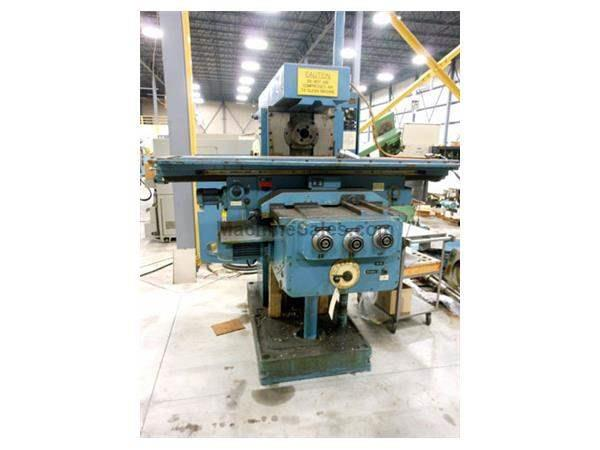 "1991 - HECKERT MODEL FW400E HEAVY DUTY PLAIN HORIZONTAL MILL WITH (2) VERTICAL HEADS, 16"" x 63"""