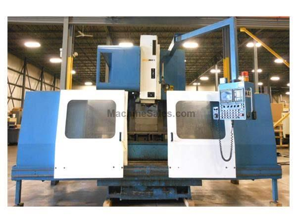 1993 - SUPERMAX MODEL MAX 8 GEARED HEAD VERTICAL MACHINING CENTER WITH FANUC OM CONTROL, 65″ X 27.6″ X 27.6″