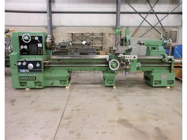"1989 - HANKOOK MODEL PROTEC-28 HEAVY DUTY GEARED HEAD GAP BED ENGINE LATHE, 28"" X 98"""