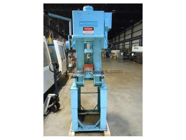 MULTIPRESS MODEL WR87M C-FRAME FLOOR TYPE HYDRAULIC PRESS, 8 TON