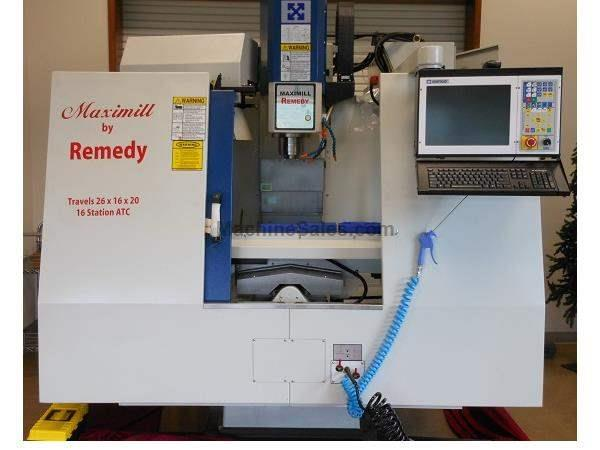 NEW REMEDY MODEL MAXI-MILL E216 CNC VERTICAL MACHINING CENTER WITH CENTROID M400 CONTROL, 26″ X 16″ X 20″