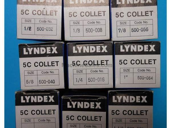 NEW - LYNDEX 5C COLLET SET  - 5C