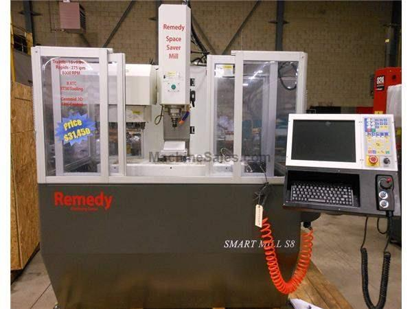 NEW REMEDY MODEL SPACE SAVER SMART MILL S8 VERTICAL MACHINING CENTER WITH C