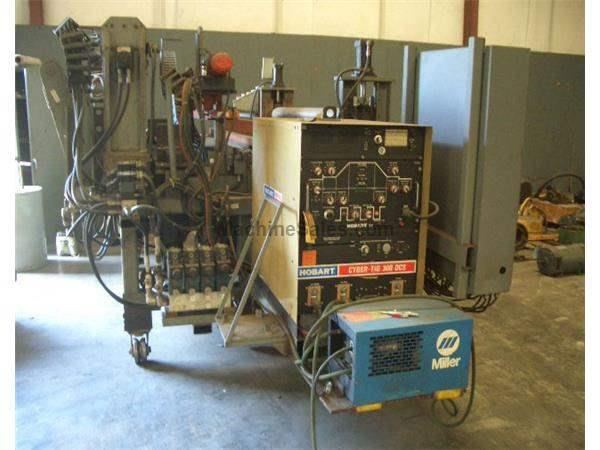 "72""(1828MMmm)x.375""(9.5mm) COIL END JOINING WELDER, HOBART 300 AMP WELDER(12264)"
