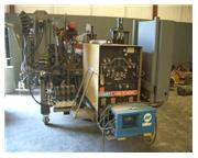 "72""(1828MMmm)x.375""(9.5mm) COIL END JOINING WELDER, HOBART 300 AMP WELDER(12264)"