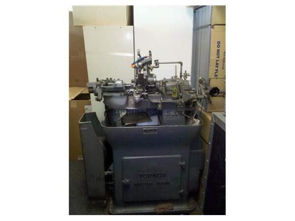 "9/32"" Tornos M7, 1400-8000RPM 20Steps,12-U 3 Spindle drilling Attch,6' gravity Nevins"