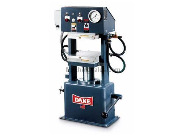 "LAB PRESS,DAKE,75 Ton,Max temp 600F,6""Stroke,19""x19""platens,(other Dake avail) Nevins Machinery Concept"
