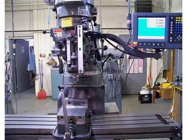 "Sharp Accurite, 9""X48"",Programmable,3 Axis,Knee Feed,2004 Nevins Machinery Concept"