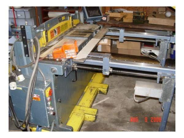 "16Ga x52"",Roper Whitney PH52,Back gauge 25"",Frnt gauge 37"",2HP,'94 Nevins Machinery Concept"