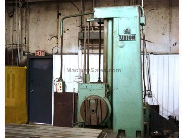 "3-1/8"" UNION TABLE TYPE HORIZONTAL BORING MILL, MOVEL BFT-80/2"