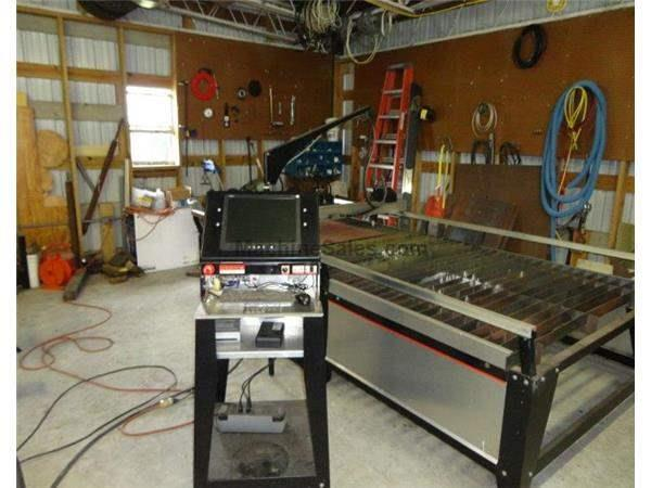 "Year 2007 Tracker 60"" x 120"" Plasma Cutting Table, Computer- Asus"