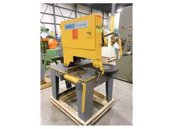 1982 SAVAGE CAMPBELL MODEL 2B DRY ABRASIVE CUT-OFF SAW, 20""