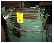 "GAUER No. 6H20NC 20"" THRU-FEED COIL STRIP EDGE DEBURRING MACHINE"