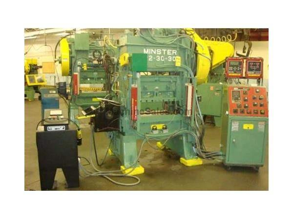 30 Ton MINSTER, PIECEMAKER, M#P2-30-30 W/WPC CLUTCH/BRAKE CONT HIGH SPEED PRESS