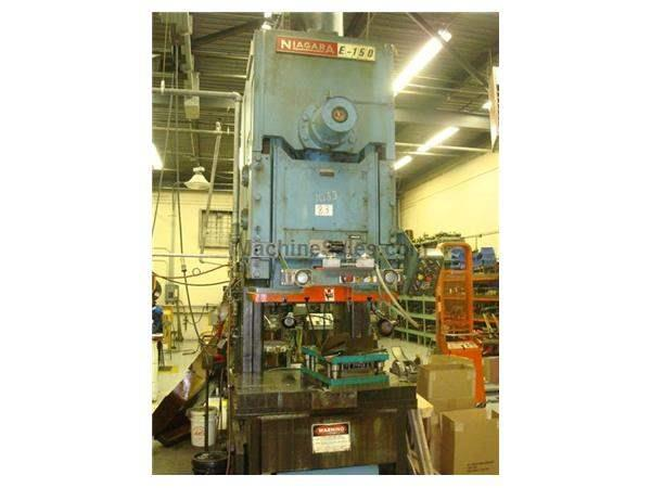 "150 TON NIAGARA #E, RACK ECCENTRIC, OBI PRESS, 8"" STR."