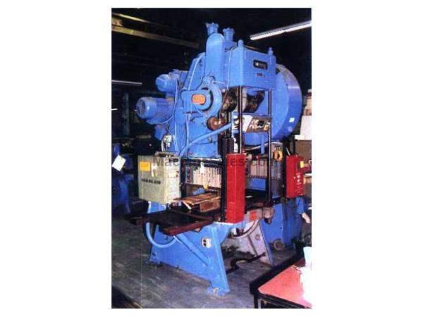 60 TON JOHNSON MODEL #MP60FW OPEN BACK INCLINABLE SINGLE CRANK PRESS